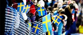 2013 Svenska skidspelen 2013  lördag svenska flaggan FOTO: ULF PALM          Falun2015, Falun 2015, Skid VM 2015, SkidVm, VM