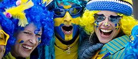2012  Svenska skidspelen glad publik   FOTO: ULF PALM     ulrika@hellmo.se  en av tjejerna på bilden lördag Skickat från min iPhone Hälsningar Ulrika Hellmo 0730-485480